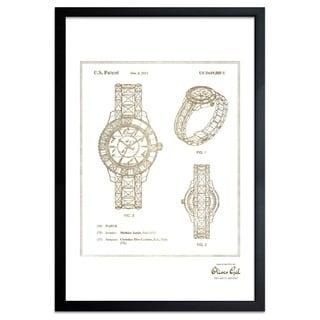 OliverGal'Dior Watch 2011, Gold Metallic' Framed Art