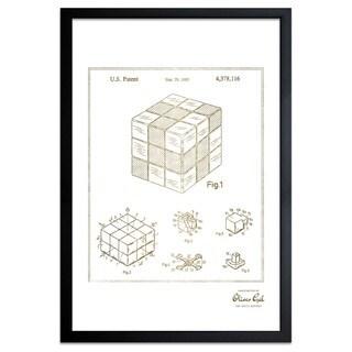 OliverGal'Spatial Logical Toy, 1983, Gold Metallic' Framed Art