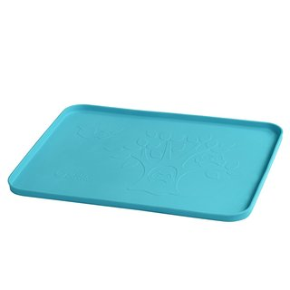 Green Sprouts Blue Silicone Learning Placemat for 6 Months And Up