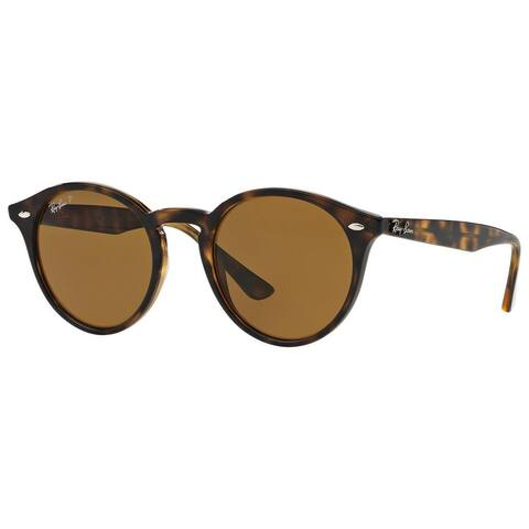 Ray-Ban RB2180 710/83 Unisex Tortoise Frame Polarized Brown Lens Sunglasses