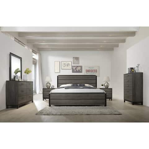 Ioana 187 Queen-size 6-piece Antique Grey Wood Bedroom Set