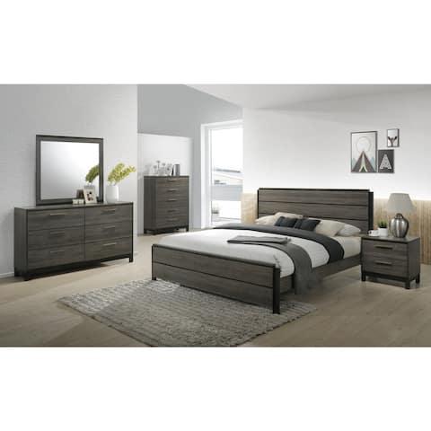 Carbon Loft Lippmann Antique Grey Finish Wood Queen-size Bedroom Set