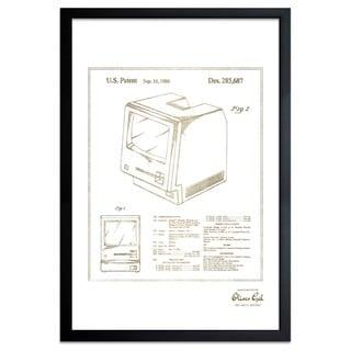 OliverGal'Apple Macintosh 128K 1986, Gold Metallic' Framed Art