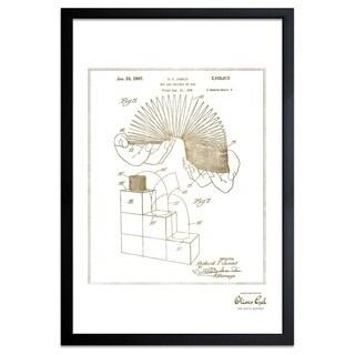 OliverGal'Slinky 1947, Gold Metallic' Framed Art