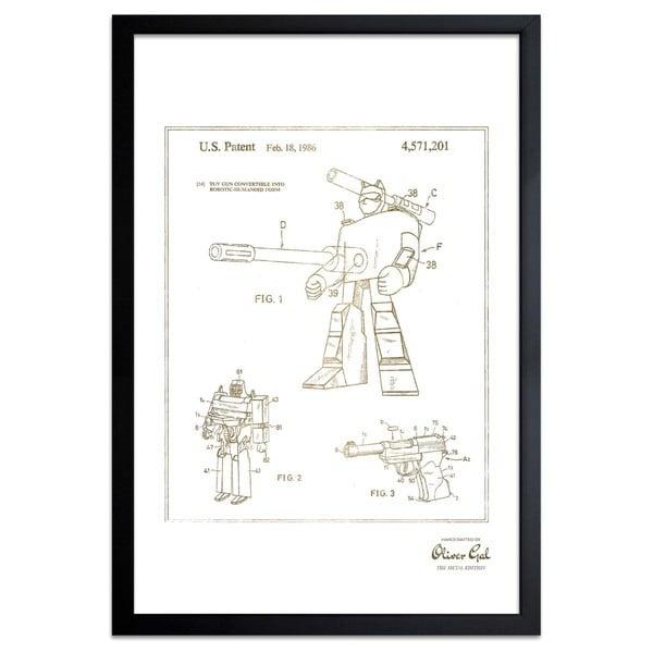 OliverGal\'Megatron 1986, Gold Metallic\' Framed Art - Free Shipping ...