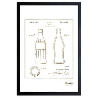 OliverGal'Coca Cola Bottle 1937, Gold Metallic' Framed Art