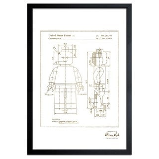 OliverGal'Lego Toy Figure 1979 2, Gold Metallic' Framed Art