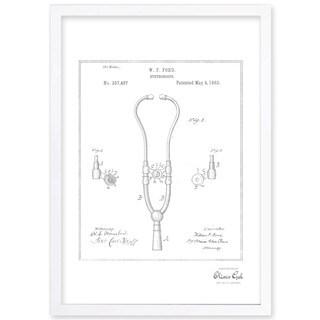 OliverGal'Stethoscope 1882, Silver Metallic' Framed Art
