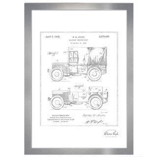 Oliver Gal 'Jeep Willys 1942, Silver Metallic' Framed Art