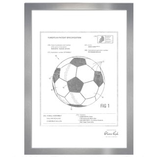 Oliver Gal 'soccer ball 2012, Silver Metallic' Framed Art