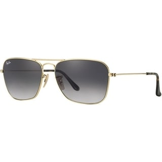 Ray-Ban Caravan RB3136 181/71 Unisex Gold Frame Grey Gradient 55mm Lens Sunglasses