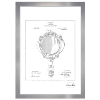 Oliver Gal 'Hand Mirror 1910, Silver Metallic' Framed Art