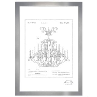Oliver Gal 'Chandelier 1996, Silver Metallic' Framed Art