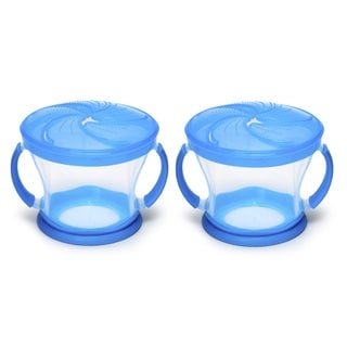 Munchkin Blue 9-ounce Snack Catcher (Set of 2)