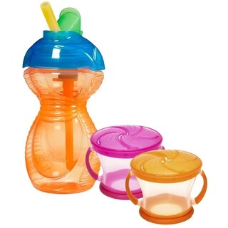 Munchkin Snack and Drink Multicolor Plastic Set