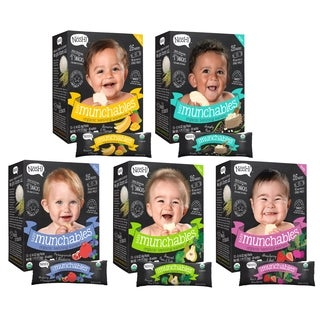 Nosh Baby Munchables Organic Rice Teething Wafers Variety Pack (5 Packs of 26)