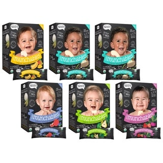 Nosh Baby Munchables Organic Rice Teething Wafers 26-piece Variety Pack (Pack of 6)