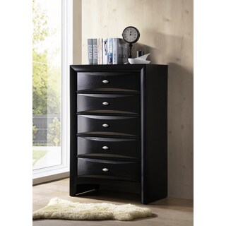 Blemerey Fully Assembled Black Finish Wood Chest