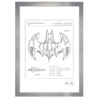 Oliver Gal 'Aerial bat Toy 1991, Silver Metallic' Framed Art