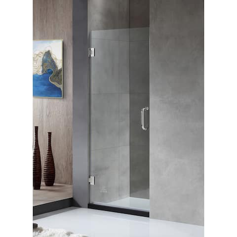 """ANZZI Fellow 30"""" x 72"""" Frameless Hinged Shower Door in Polished Chrome"""