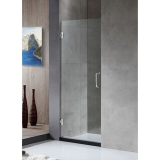 ANZZI FELLOW Series 30 in. by 72 in. Frameless Hinged shower door in Chrome with Handle
