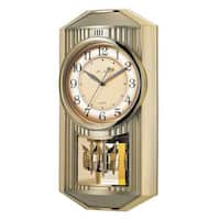 Hans Andersen Home Melodies in Motion Golden 19-inch High Wall Clock