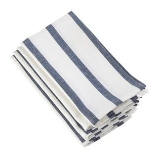 Striped Printed Design Cotton Napkin - Set of 4
