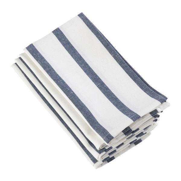 Striped Printed Design Cotton Napkin - Set of 4. Opens flyout.