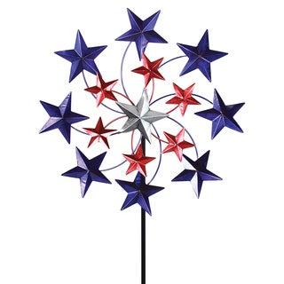 Exhart Star Spangled Spinner Garden Stake