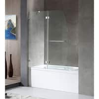 ANZZI HERALD Series 48 in. by 58 in. Frameless Hinged tub door in Chrome