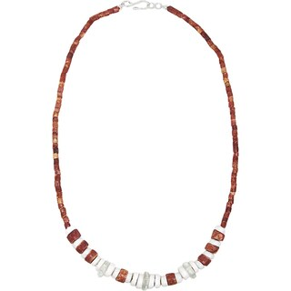 Handmade Down to Earth Necklace in White - Global Mamas (Ghana)