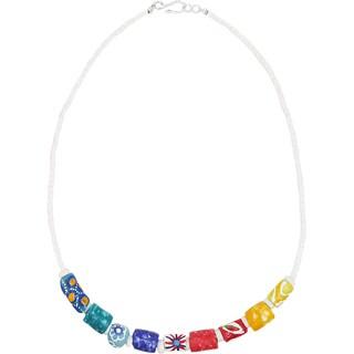 Handmade Marble Rainbow Necklace - Global Mamas (Ghana)