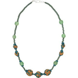 Link to Handmade Grace Necklace in Moss - Global Mamas (Ghana) Similar Items in Girls' Clothing