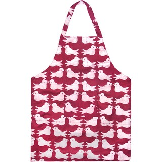 Hand Batiked Two Birds Cotton Apron in Plum - Global Mamas (Ghana)