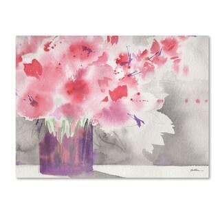 Sheila Golden 'Winter Blossoms' Canvas Art