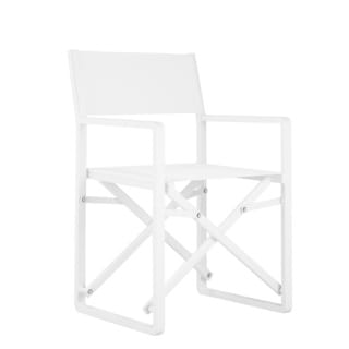 SET OF 2 SUNSET DIRECTORS CHAIRS WHITE