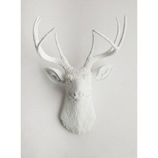 The Templeton, White Faux Deer Head Wall Mount by White Faux Taxidermy