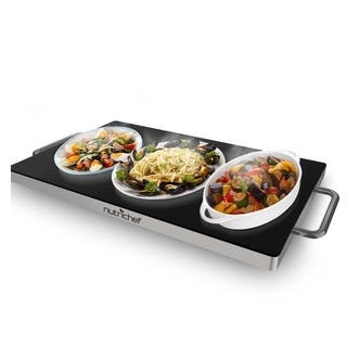 NutriChef PKWTR45 Electronic Warming Tray, Plug-in Food Warmer with Non-Stick, Heat-Resistant Glass Plate|https://ak1.ostkcdn.com/images/products/14989300/P21489973.jpg?impolicy=medium