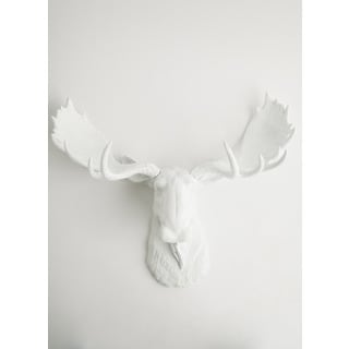 The Edmonton, White Faux Moose Head Wall Mount by White Faux Taxidermy