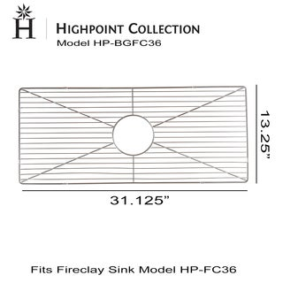 Highpoint Collection Bottom Grid for HP-FC36 - 36-inch Fireclay Farmhouse Sink