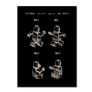 Claire Doherty 'Lego Man Patent 1979 Page 2 Black' Canvas Art