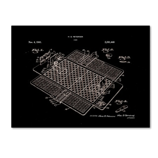 Claire Doherty 'Basketball Court Game Patent 1941 Black' Canvas Art