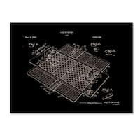 Claire Doherty 'Basketball Court Game Patent 1941 Black' Canvas Art - Black/White