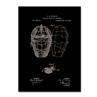 Claire Doherty 'Baseball Catcher's Mask Patent 1883 Black' Canvas Art