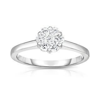 Noray Designs 14K White Gold Diamond (0.50 Ct, G-H Color, SI2-I1 Clarity) Cluster Ring