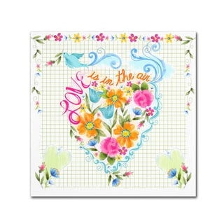 Lisa Powell Braun 'Love Heart' Canvas Art
