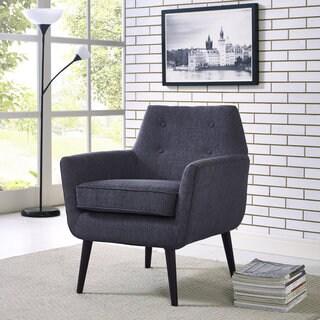 Clyde Navy Linen Accent Arm Chair