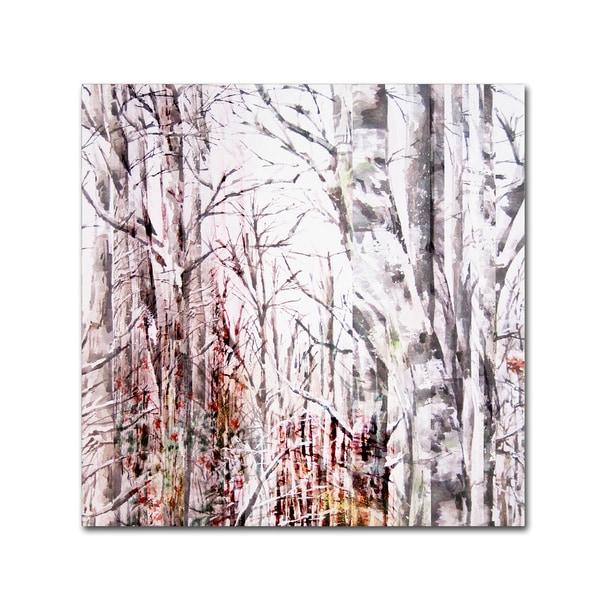 Lisa Powell Braun 'Winter Trees' Canvas Art
