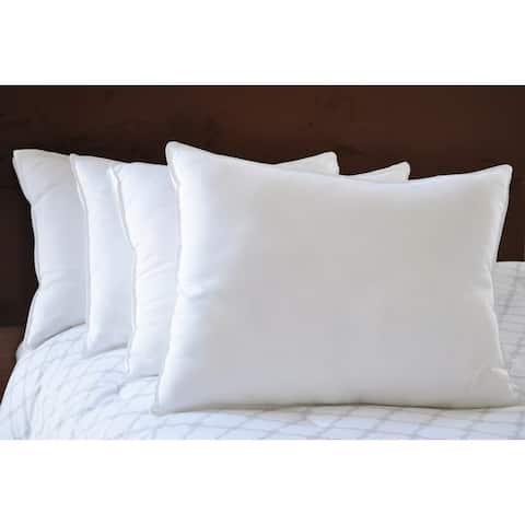 Natural Comfort White Microfiber Down Alternative Gel-Like Pillow (Set of 4)