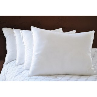 Natural Comfort White Microfiber Down Alternative Gel-Like Pillow (Set of 4)